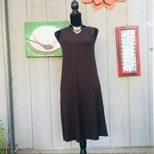 Eileen Fisher Dresses - Eileen Fisher Brown Wool Petite Sleeveless Dress